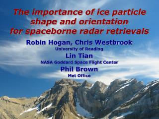 The importance of ice particle shape and orientation  for  spaceborne  radar retrievals