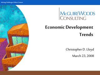 Economic Development Trends