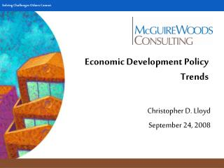 Economic Development Policy Trends