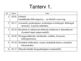 Tanterv 1.