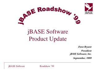 JBASE Software Product Update