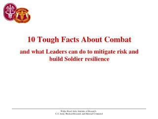 10 Tough Facts About Combat and what Leaders can do to mitigate risk and build Soldier resilience