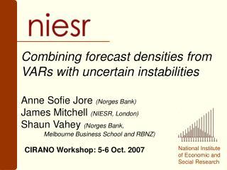 CIRANO Workshop: 5-6 Oct. 2007
