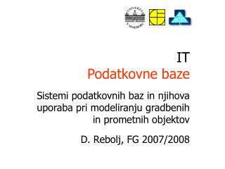 IT P odatkovn e  baz e