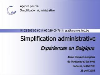Agence pour la Simplification Administrative