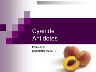 Cyanide  Antidotes