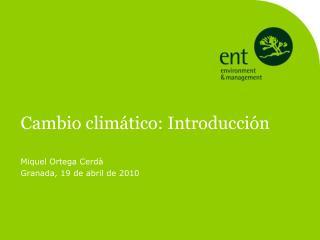 Cambio climático: Introducción
