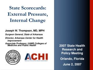 State Scorecards: External Pressure, Internal Change