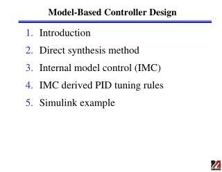 Model-Based Controller Design