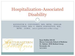 Hospitalization-Associated Disability