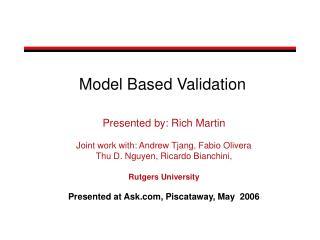 Model Based Validation