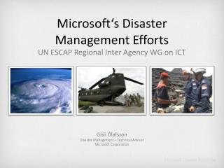 Microsoft's Disaster Management Efforts