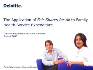 The Application of  Fair Shares for All  to Family Health Service Expenditure