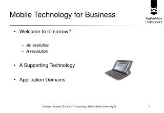 Mobile Technology for Business