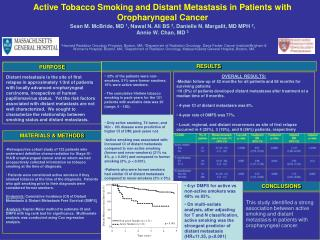 Active Tobacco Smoking and Distant Metastasis in Patients with Oropharyngeal Cancer