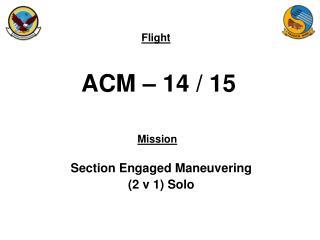 ACM – 14 / 15