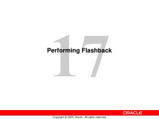 Performing Flashback