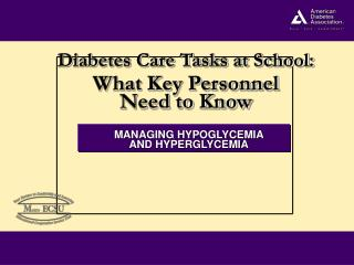 MANAGING HYPOGLYCEMIA  AND HYPERGLYCEMIA