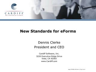 New Standards for eForms