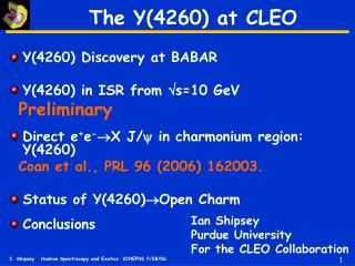 The Y(4260) at CLEO