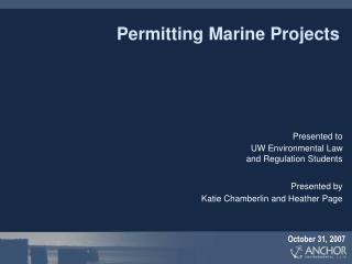 Permitting Marine Projects