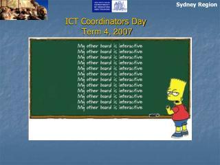 ICT Coordinators Day Term 4, 2007