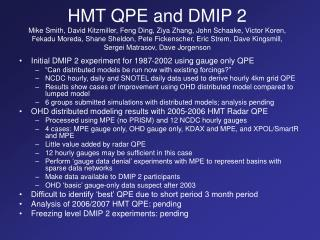 Initial DMIP 2 experiment for 1987-2002 using gauge only QPE