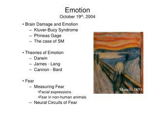 Emotion October 19 th , 2004