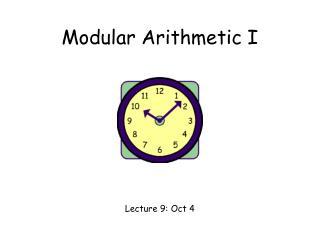 Modular Arithmetic I