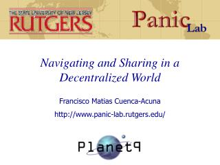 Navigating and Sharing in a Decentralized World