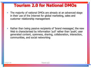 Tourism 2.0  for National DMOs