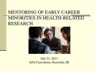 July 31, 2013 APA Convention, Honolulu, HI
