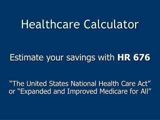 Healthcare Calculator