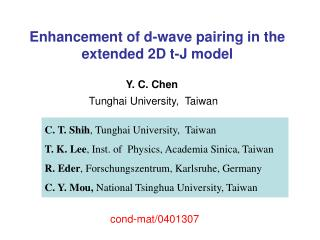 Enhancement of d-wave  pairing in the  extended  2D t-J model