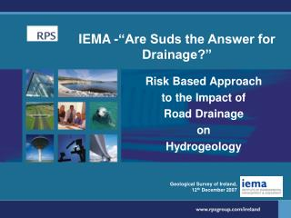 "IEMA -""Are Suds the Answer for Drainage?"""