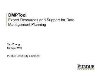 DMPTool Expert Resources and Support for Data Management Planning