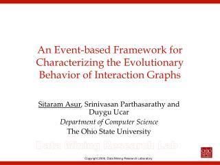 An Event-based Framework for Characterizing the Evolutionary Behavior of Interaction Graphs