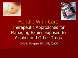 Handle With Care Therapeutic Approaches for Managing Babies Exposed to Alcohol and Other Drugs
