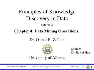Principles of Knowledge Discovery in Data