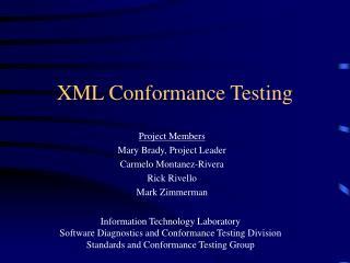 XML Conformance Testing