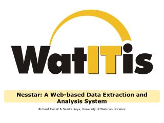 Nesstar: A Web-based Data Extraction and Analysis System
