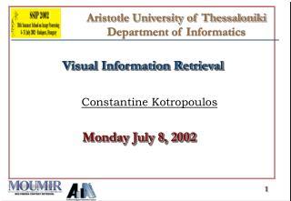 Aristotle University of Thessaloniki  Department of Informatics