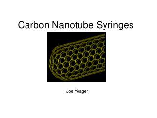 Carbon Nanotube Syringes