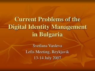 Digital Identity Management