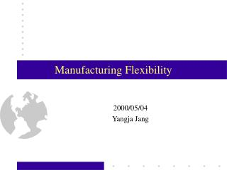 Manufacturing Flexibility