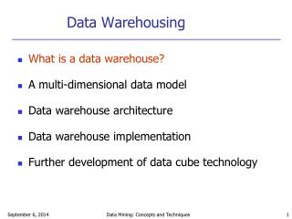 Data Warehousing