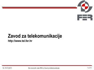 Zavod za telekomunikacije tel.fer.hr