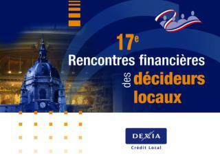 De l'économie mondiale aux finances locales françaises