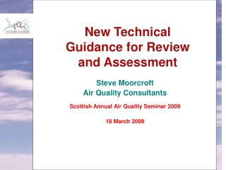 New Technical Guidance for Review and Assessment