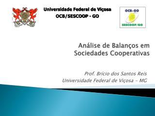 Análise de Balanços em  Sociedades Cooperativas